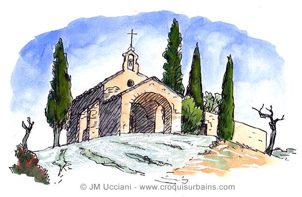 chapelle Saint-Sixte à Eygalières.