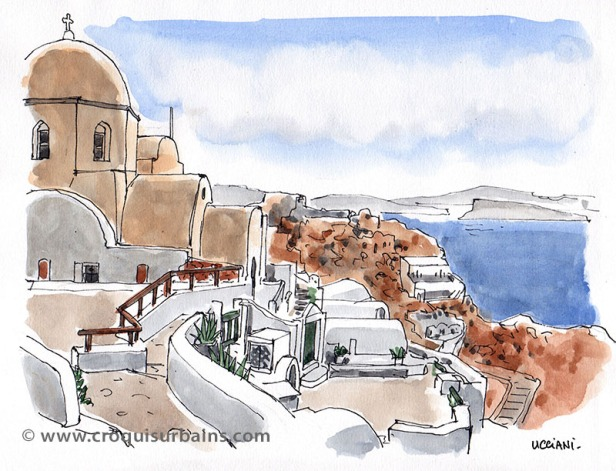 Santorin île grecque