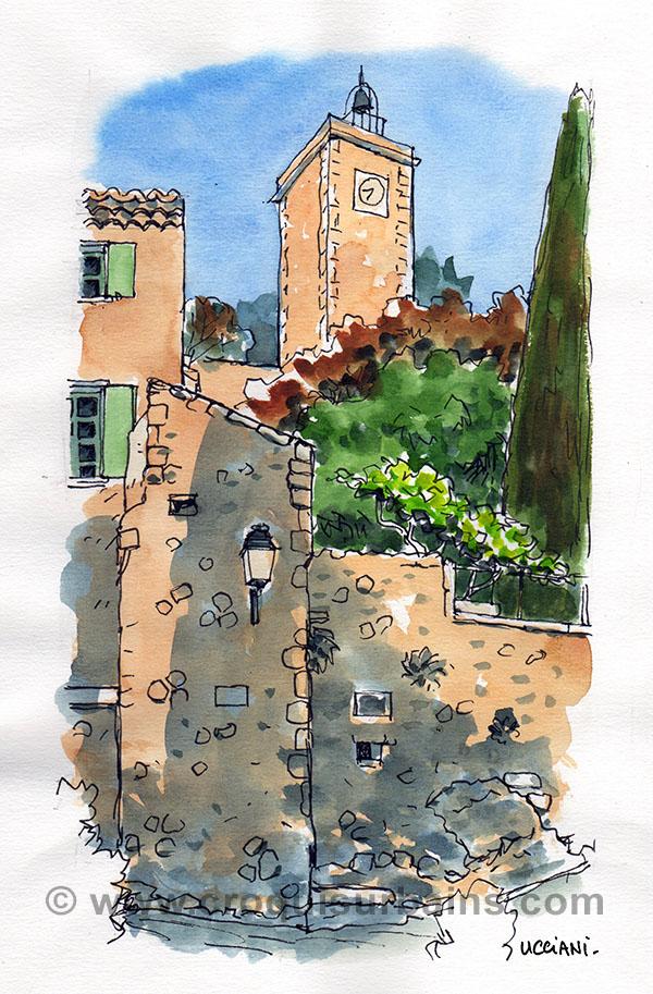 La Tour de l'Horloge à Eygalières