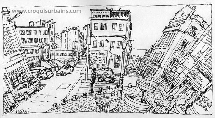 Rues de Marseille à 180°