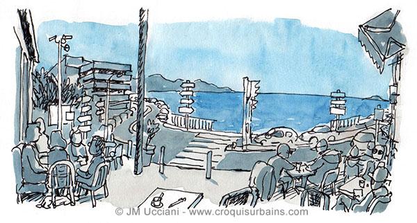 terrasse en Corniche Marseille