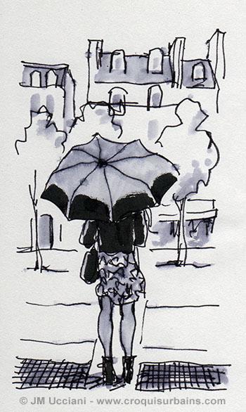 Parisienne parapluie