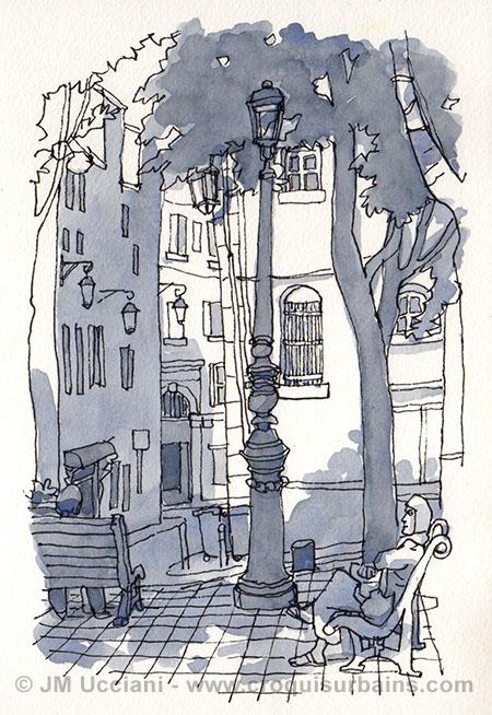 place de Lorette au Panier Marseille