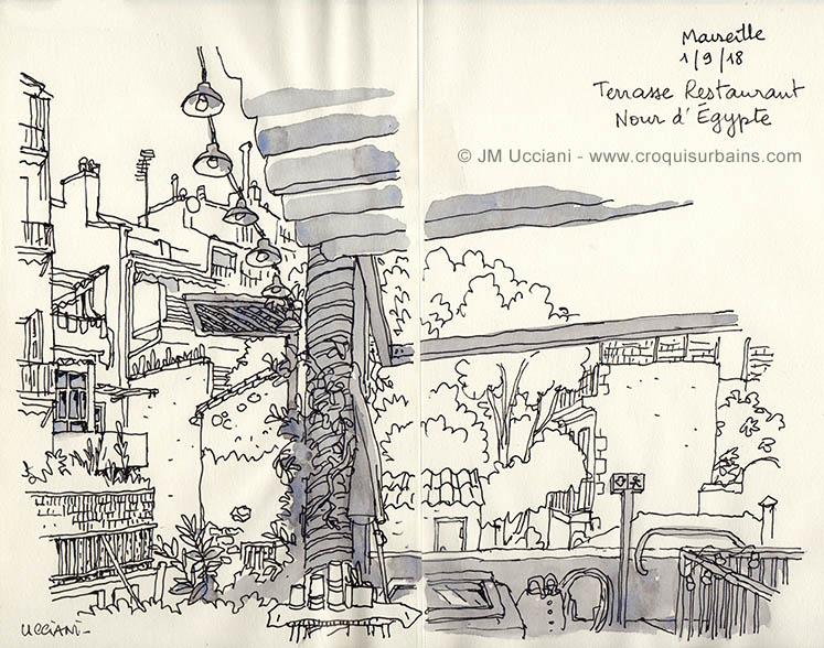 terrasse Nour d'Égypte Marseille