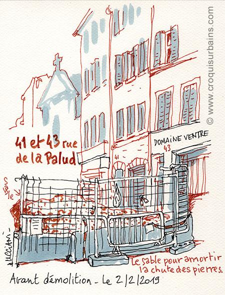 demolition rue de la Palud Marseille