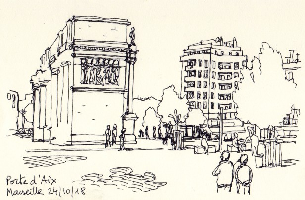 La Porte d'Aix à Marseille