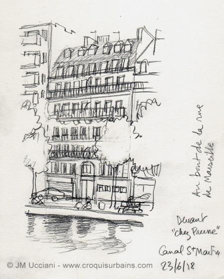 Paris au crayon gris
