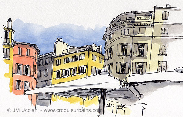 En regardant dans les hauteurs à Marseille