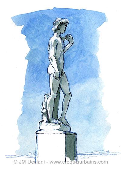 Statue de David à Marseille