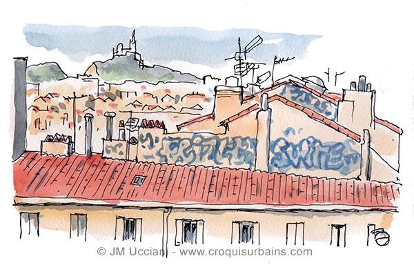 Vue sur les toits de Marseille
