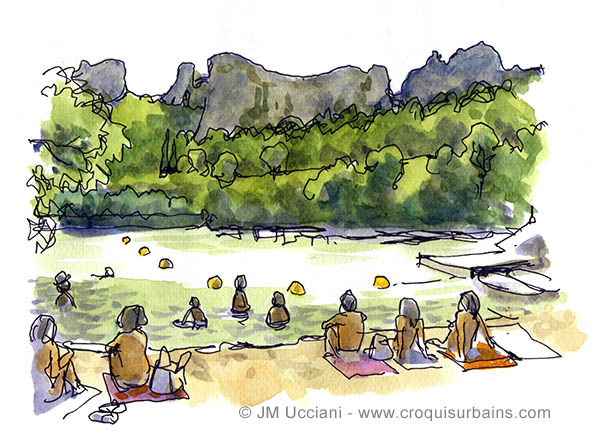 Le lac d'Orgon