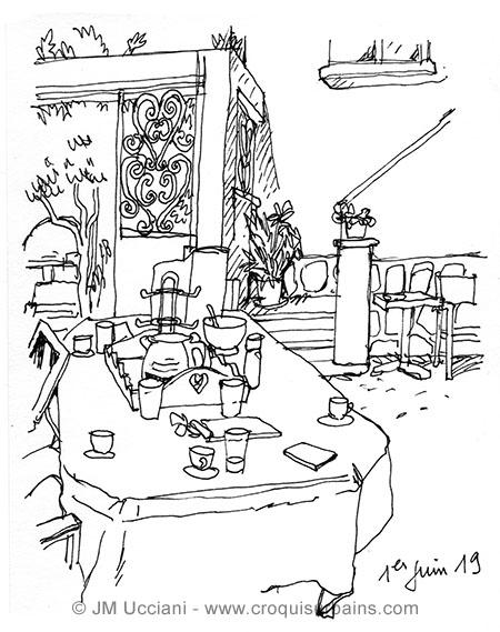 table repas jardin