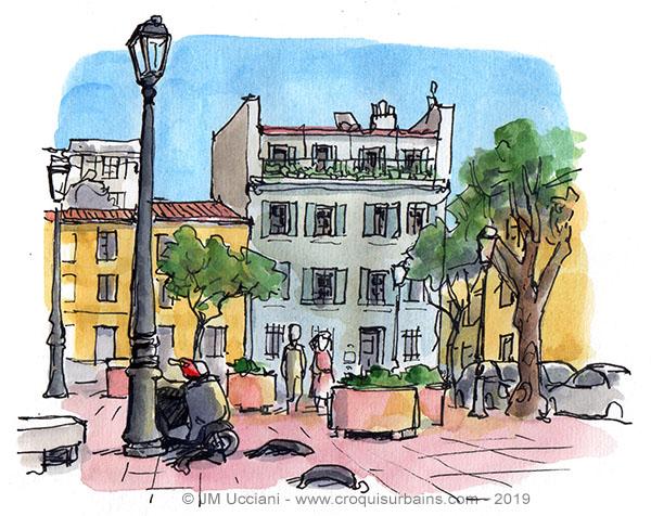 Place des moulins Panier Marseille
