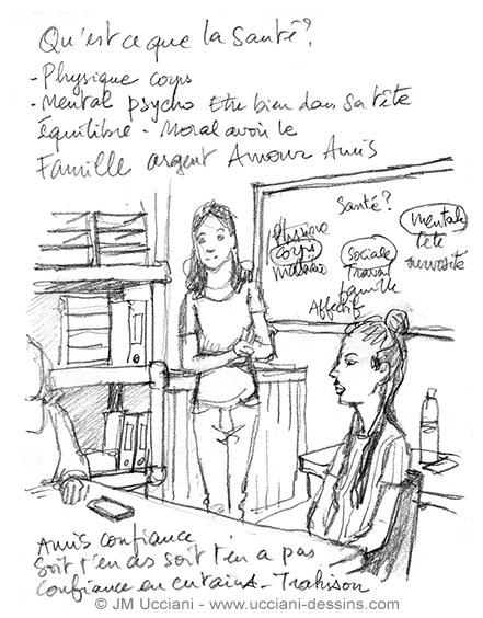 Reportage dessiné pour une association