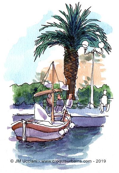sanary port palmier